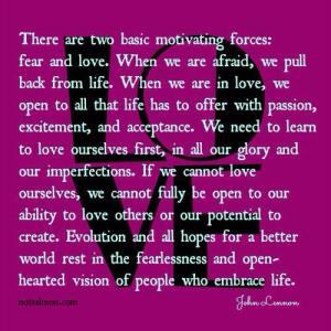 LOVE VS FEAR john lennon