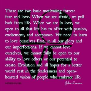 LOVE VS FEAR john lennon